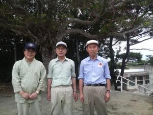 奄美大島笠利中学校にて