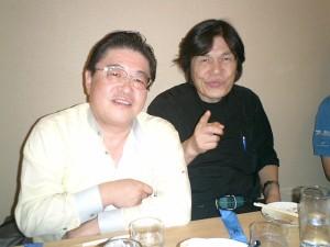 シンガポール学会にて 河口洋一郎教授と