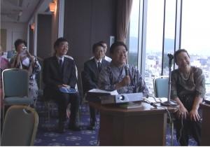 京都ホテル17階特別室にて